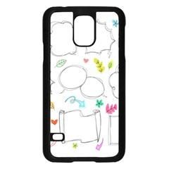 Set Chalk Out Chitchat Scribble Samsung Galaxy S5 Case (black)