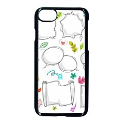 Set Chalk Out Chitchat Scribble Apple Iphone 7 Seamless Case (black)