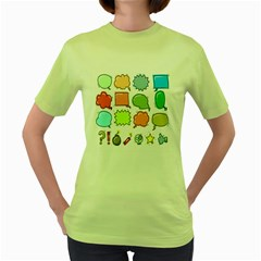 Set Collection Balloon Image Women s Green T Shirt