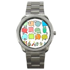 Set Collection Balloon Image Sport Metal Watch
