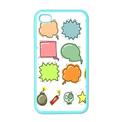 Set Collection Balloon Image Apple Iphone 4 Case (color)