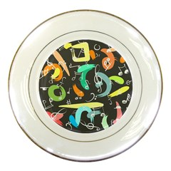 Repetition Seamless Child Sketch Porcelain Plates
