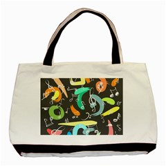 Repetition Seamless Child Sketch Basic Tote Bag (two Sides) by Nexatart