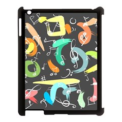 Repetition Seamless Child Sketch Apple Ipad 3/4 Case (black) by Nexatart