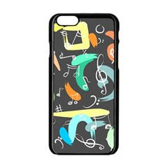 Repetition Seamless Child Sketch Apple Iphone 6/6s Black Enamel Case