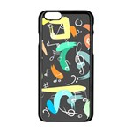 Repetition Seamless Child Sketch Apple iPhone 6/6S Black Enamel Case Front