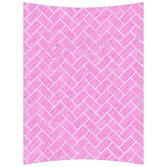 Brick2 White Marble & Pink Colored Pencil Back Support Cushion by trendistuff
