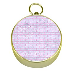 Brick1 White Marble & Pink Colored Pencil (r) Gold Compasses by trendistuff