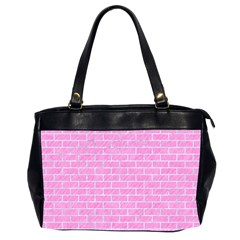 Brick1 White Marble & Pink Colored Pencilbrick1 White Marble & Pink Colored Pencil Office Handbags (2 Sides)  by trendistuff
