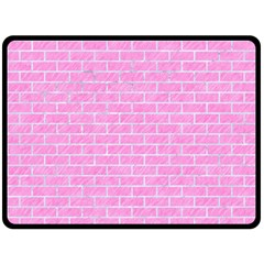 Brick1 White Marble & Pink Colored Pencilbrick1 White Marble & Pink Colored Pencil Fleece Blanket (large)  by trendistuff