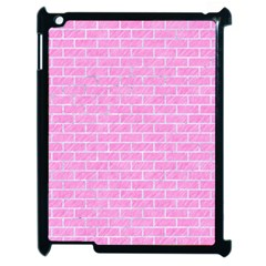 Brick1 White Marble & Pink Colored Pencilbrick1 White Marble & Pink Colored Pencil Apple Ipad 2 Case (black) by trendistuff