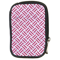 Woven2 White Marble & Pink Denim (r) Compact Camera Cases by trendistuff