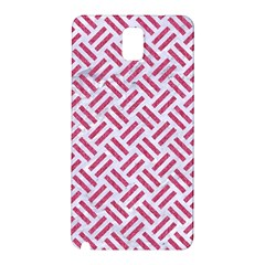 Woven2 White Marble & Pink Denim (r) Samsung Galaxy Note 3 N9005 Hardshell Back Case by trendistuff