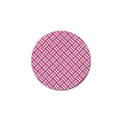 Woven2 White Marble & Pink Denim Golf Ball Marker (4 Pack) by trendistuff