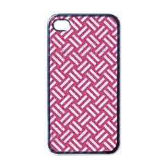Woven2 White Marble & Pink Denim Apple Iphone 4 Case (black) by trendistuff