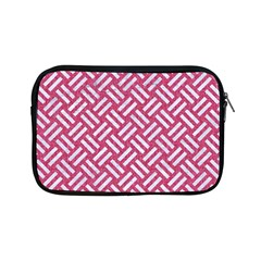 Woven2 White Marble & Pink Denim Apple Ipad Mini Zipper Cases by trendistuff