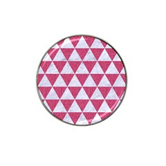 Triangle3 White Marble & Pink Denim Hat Clip Ball Marker (4 Pack) by trendistuff