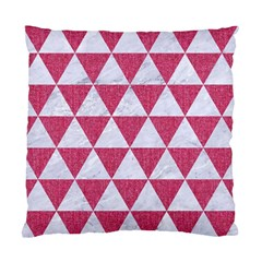 Triangle3 White Marble & Pink Denim Standard Cushion Case (two Sides) by trendistuff