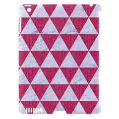 Triangle3 White Marble & Pink Denim Apple Ipad 3/4 Hardshell Case (compatible With Smart Cover) by trendistuff