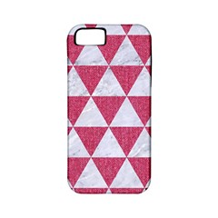 Triangle3 White Marble & Pink Denim Apple Iphone 5 Classic Hardshell Case (pc+silicone) by trendistuff