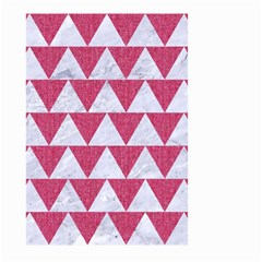 Triangle2 White Marble & Pink Denim Large Garden Flag (two Sides) by trendistuff