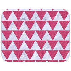 Triangle2 White Marble & Pink Denim Full Print Lunch Bag by trendistuff