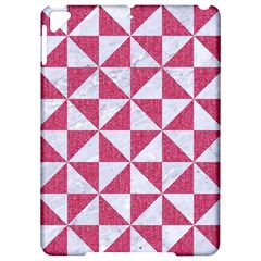 Triangle1 White Marble & Pink Denim Apple Ipad Pro 9 7   Hardshell Case