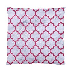 Tile1 White Marble & Pink Denim (r) Standard Cushion Case (two Sides) by trendistuff