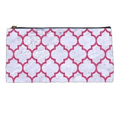 Tile1 White Marble & Pink Denim (r) Pencil Cases by trendistuff