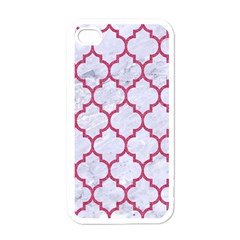 Tile1 White Marble & Pink Denim (r) Apple Iphone 4 Case (white) by trendistuff