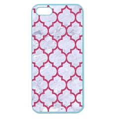 Tile1 White Marble & Pink Denim (r) Apple Seamless Iphone 5 Case (color) by trendistuff