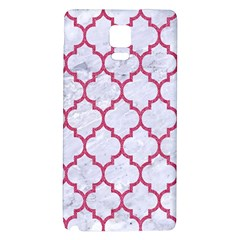 Tile1 White Marble & Pink Denim (r) Galaxy Note 4 Back Case by trendistuff
