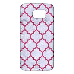 Tile1 White Marble & Pink Denim (r) Galaxy S6 by trendistuff