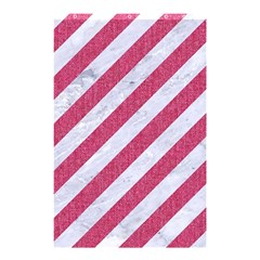 Stripes3 White Marble & Pink Denim (r) Shower Curtain 48  X 72  (small)  by trendistuff