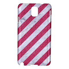 Stripes3 White Marble & Pink Denim (r) Samsung Galaxy Note 3 N9005 Hardshell Case by trendistuff