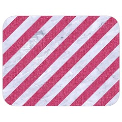 Stripes3 White Marble & Pink Denim (r) Full Print Lunch Bag by trendistuff