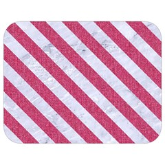 Stripes3 White Marble & Pink Denim Full Print Lunch Bag by trendistuff