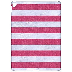 Stripes2white Marble & Pink Denim Apple Ipad Pro 12 9   Hardshell Case by trendistuff