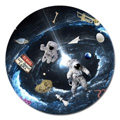 We Found Laika Magnet 5  (round) by Valentinaart