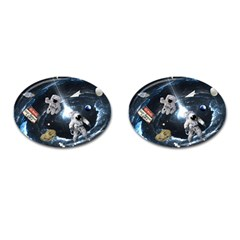 We Found Laika Cufflinks (oval)