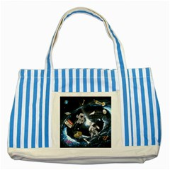 We Found Laika Striped Blue Tote Bag
