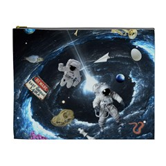 We Found Laika Cosmetic Bag (xl) by Valentinaart