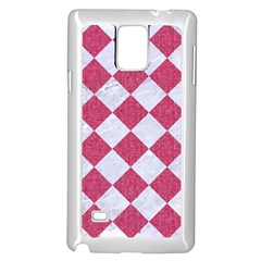 Square2 White Marble & Pink Denim Samsung Galaxy Note 4 Case (white) by trendistuff
