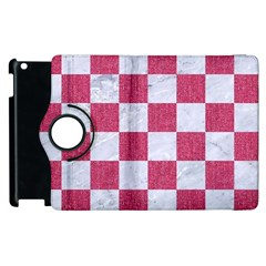 Square1 White Marble & Pink Denim Apple Ipad 2 Flip 360 Case by trendistuff