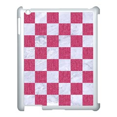 Square1 White Marble & Pink Denim Apple Ipad 3/4 Case (white)
