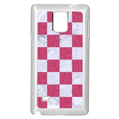 Square1 White Marble & Pink Denim Samsung Galaxy Note 4 Case (white)