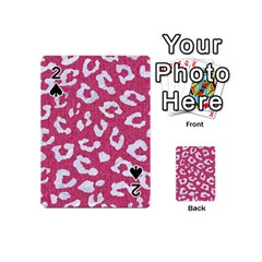Skin5 White Marble & Pink Denim (r) Playing Cards 54 (mini)  by trendistuff
