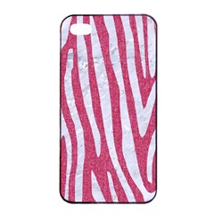 Skin4 White Marble & Pink Denim (r) Apple Iphone 4/4s Seamless Case (black) by trendistuff