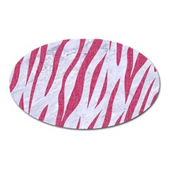 SKIN3 WHITE MARBLE & PINK DENIM (R) Oval Magnet