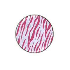 Skin3 White Marble & Pink Denim (r) Hat Clip Ball Marker (10 Pack) by trendistuff